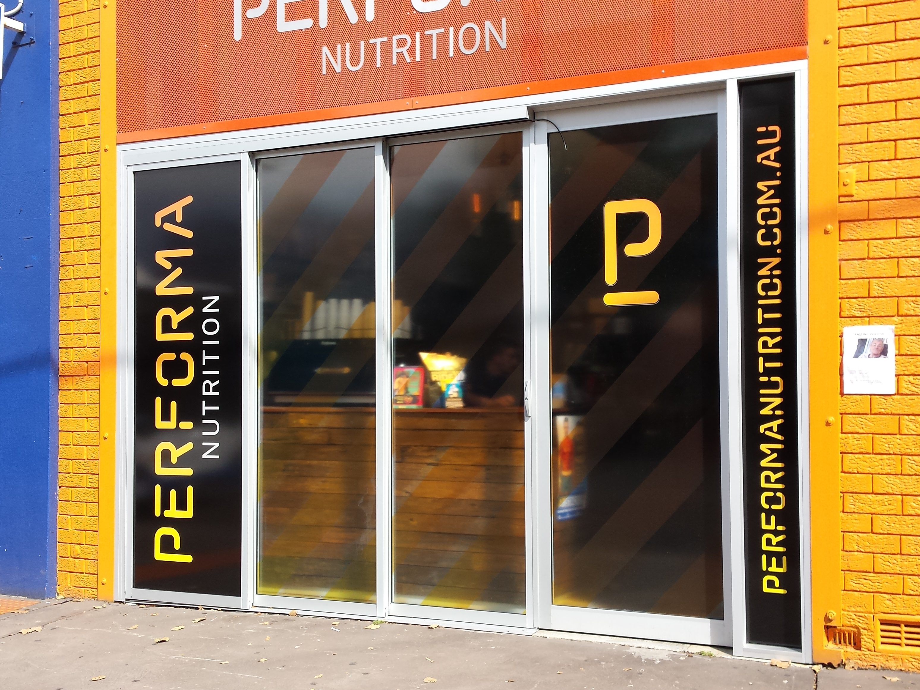 Perfoma Nutrition Window Signage