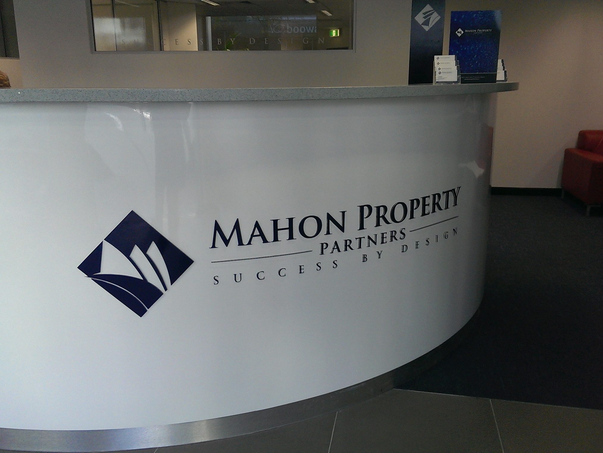 Reception Signage with Sealy Signs