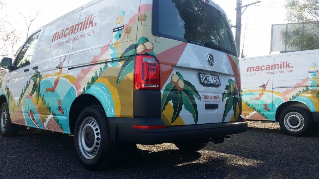 Macamilk Van Company Wraps