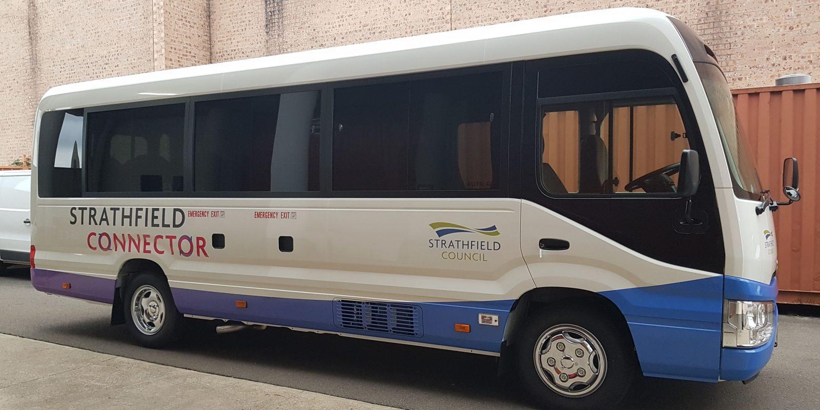 Strathfield Connector Bus Wrap