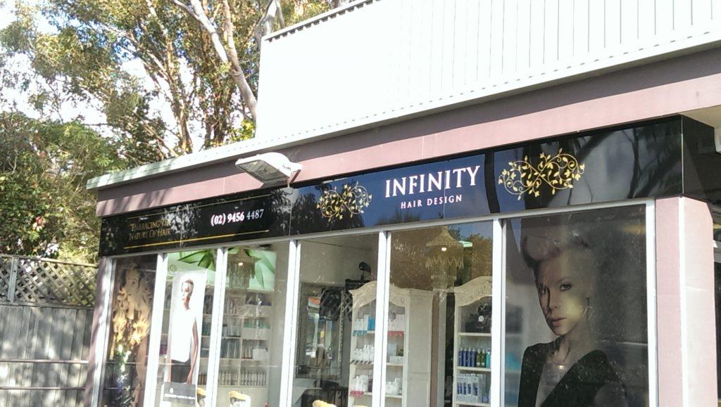 Infinity Hair Studio Perspex Signage