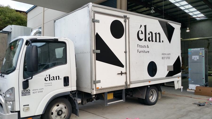 Fleet Brand Signage on Truck