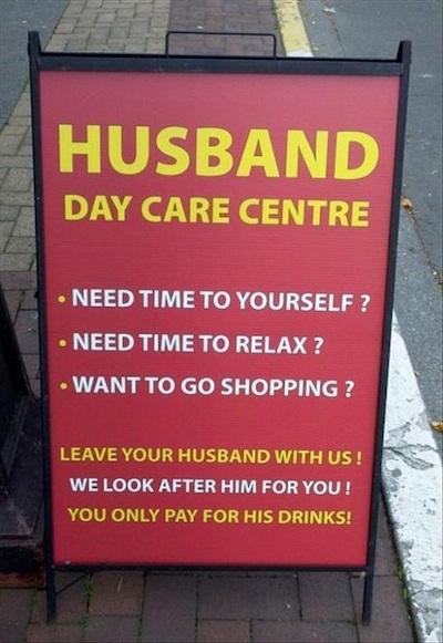 Funny Sidewalk Sign