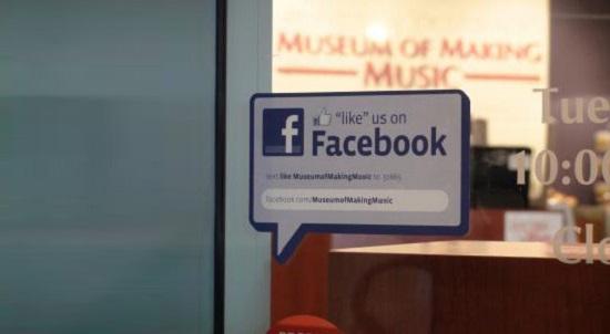Social Media on Shop Window
