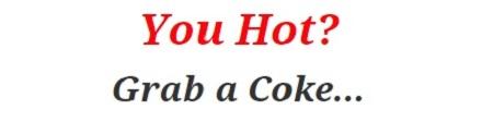 You Hot Coke Sign