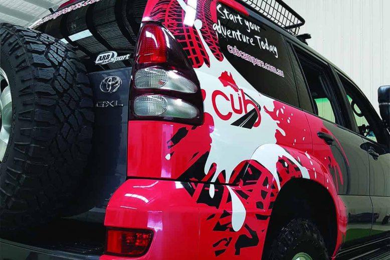 Cub 4wd Full Wrap on SUV