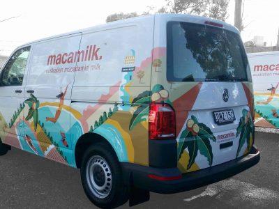 Macamilk Van with full wrap to van