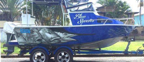 Boat Wrap Blue Snapper Design