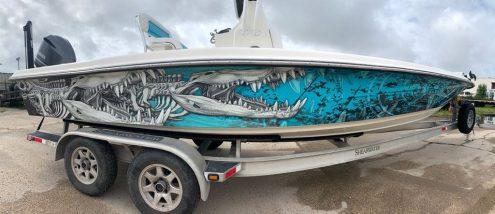 Boat Wrap Crocodile Graphic Design