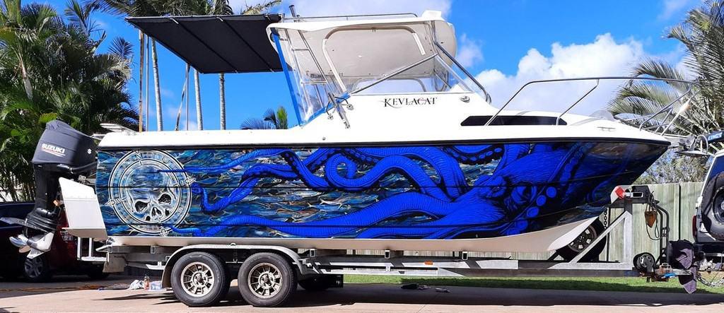 Octapus Design Fishing Boat Wrap