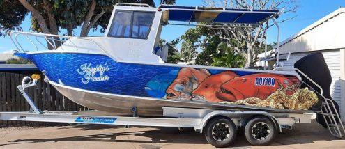 Reef Fishing Boat Wrap